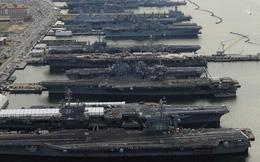 """Hơn một nửa hạm đội tàu sân bay Mỹ phải """"nằm cảng"""""""
