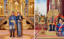 Cung điện phát hành hình ảnh mới của vợ chồng Quốc vương Thái Lan cho thấy sự khác biệt rõ rệt giữa Hoàng hậu và Hoàng quý phi
