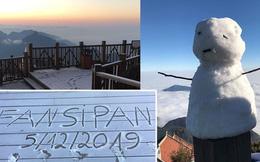 """HOT: Xuất hiện băng giá phủ trắng đỉnh Fansipan, dân tình rục rịch rủ nhau cuối năm lên Sa Pa """"săn"""" tuyết rơi"""
