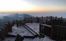 Hiện tượng kỳ thú trên Sapa sáng nay không phải băng tuyết, chỉ là sương muối