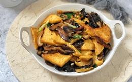Đậu kho nấm ngon miễn bàn, nhất là ăn vào mùa đông thì hao cơm vô cùng!