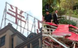 Công nhân đang làm việc trên tầng 20 thì bất cẩn rơi xuống đất cùng khung sắt bảng quảng cáo khổng lồ, hiện trường thảm khốc đáng sợ