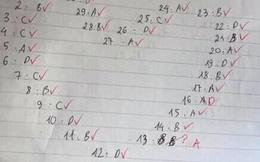Làm sao để gây ấn tượng với cô giáo: Cứ đánh số câu trắc nghiệm theo hình trái tim là xong!