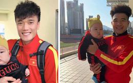 """Bùi Tiến Dũng cưng chiều em bé ở Hàn Quốc, đặt tên là """"Tiểu màn thầu"""""""