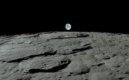 """Ấn tượng cảnh Trái Đất """"mọc"""" nhìn từ bề mặt Mặt Trăng"""