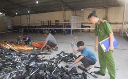 Công an Đồng Nai tiêu hủy hàng trăm khẩu súng, hàng nghìn mã tấu