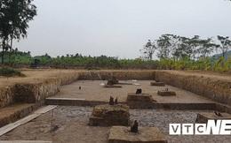 Thực nghiệm hiện trường tại bãi cọc nhà Trần gần nghìn năm tuổi