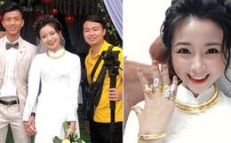 Vợ Phan Văn Đức khoe vàng treo kín tay, trĩu cổ sau đám hỏi, còn vui vẻ: Lấy chồng cho bằng bạn bằng bè!