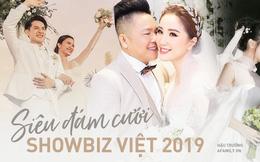 """Điểm lại """"năm hỷ"""" 2019 của showbiz Việt: Hôn lễ thế kỷ Đông Nhi - Ông Cao Thắng quá xa hoa nhưng những đám cưới này cũng không thua kém"""