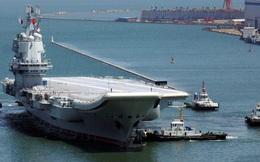Tàu sân bay mới của Trung Quốc đi qua eo biển Đài Loan