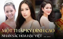 Đỉnh cao nhan sắc dàn Hoa hậu đăng quang cả thập kỷ: U40, U50 vẫn đẹp ngỡ ngàng, Mai Phương Thúy táo bạo nhất