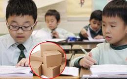 """Bài toán tính cân nặng hộp bìa khiến phụ huynh cũng phải đầu hàng tuyên bố: """"Tôi không thông minh bằng học sinh lớp 5"""""""