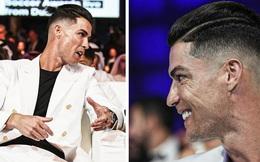Ronaldo trình làng kiểu tóc cực chất trong ngày đi nhận giải, nhưng nhìn kỹ các fan lại chợt phát hiện ra điều đáng buồn về tuổi tác của CR7