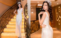Hoa hậu Khánh Vân khoe vóc dáng gợi cảm khi diện đầm của NTK Lâm Lâm