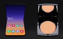 Smartphone màn hình gập vỏ sò của Samsung sẽ có tên là Galaxy Bloom, lấy cảm hứng thiết kế từ hộp phấn trang điểm