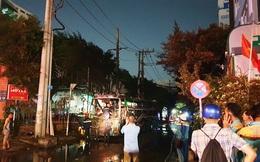 Bất ngờ cháy xe giường nằm, giao thông ùn ứ kéo dài ở Sài Gòn