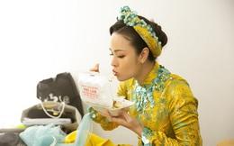 Lộng lẫy trên MV nhưng trong hậu trường, Nhật Kim Anh lại rất nhí nhố