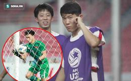 Cầu thủ Triều Tiên diễn lại cảnh bắt bóng hụt của Bùi Tiến Dũng khi ăn mừng bàn thắng