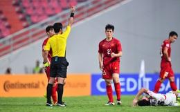 Nhận thẻ đỏ tai hại, Đình Trọng bị treo giò tại vòng loại World Cup