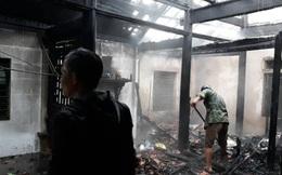 Căn nhà gỗ 3 gian bị lửa thiêu rụi ngày đầu năm mới