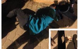 Xót xa cảnh thanh niên Grabbike nằm gục bên túi bún còn nóng trên đường giá lạnh