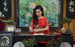 Cao Mỹ Kim xinh đẹp và quyến rũ trong tà áo dài