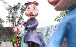 Độc đáo 'gia đình chuột' khổng lồ nắm tay nhau dạo phố Hải Phòng