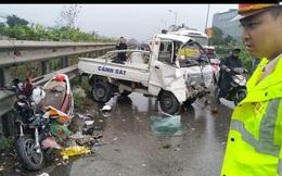 Chiều 30 Tết: Xe máy va chạm với xe tải của công an trên QL 1A khiến 2 người bị thương