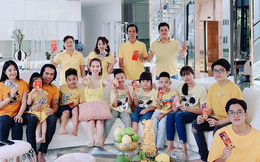 Đại gia đình Ngọc Trinh đón năm mới trong căn biệt thự 2 triệu đô