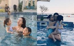 Đưa con đi du lịch đầu năm mới, Phạm Quỳnh Anh lo lắng virut corona