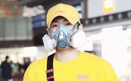 """Giữa tình hình dịch bệnh Corona diễn biến nguy hiểm, một idol Trung Quốc """"gây sốt"""" khi xuất hiện tại sân bay với diện mạo """"lạ"""""""