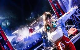 Trang Moon cá tính trong bữa tiệc âm nhạc mở màn năm mới