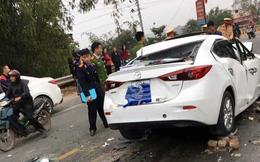 Nghi gây tai nạn bỏ chạy, tài xế xe Mazda tông vào xe ben tử vong
