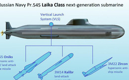 Hải quân Nga rò rỉ thông tin về tàu ngầm sát thủ mới