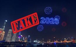 2.000 máy bay không người lái trình diễn trong đêm giao thừa ở Thượng Hải hóa ra là 'cú lừa' của truyền thông Trung Quốc