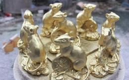Ảnh: Làng gốm Bát Tràng bận rộn cả đêm đúc tượng chuột bán Tết