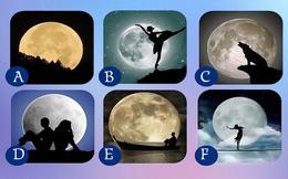 Hãy chọn mặt trăng mà mình thích, nếu là phương án A thì bạn là người lạc quan