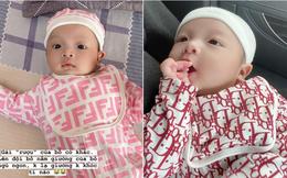 Rich kid mới nổi gọi tên con gái Bùi Tiến Dũng - Khánh Linh: Mới 2 tháng tuổi đã được phủ hàng hiệu từ đầu tới chân