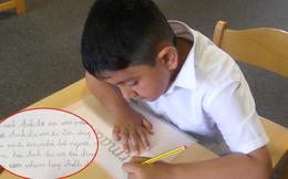 Yêu cầu viết bài văn ngắn tả người thân trong gia đình, cậu bé lớp 2 kể về anh trai thật như đếm khiến mẹ chỉ biết câm nín