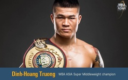 Nhà vô địch WBA châu Á Trương Đình Hoàng: 'Không nghĩ về tiền thưởng khi thượng đài'
