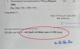 Đi khám đau lưng, bệnh nhân được bác sĩ dặn mua vở 200 trang