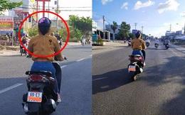 Người phụ nữ trùm kín mít đi xe máy, tưởng bình thường hóa ra ẩn chứa điều bất thường không tưởng