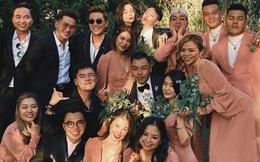 Hai cặp đôi chia tay ồn ào đều xuất hiện trong đám cưới của Tóc Tiên