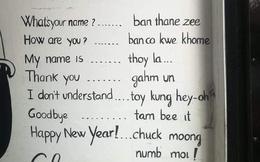 """Khi người nước ngoài """"học vẹt"""" Tiếng Việt để giao tiếp cơ bản: Thảo nào mấy anh Tây nói mãi vẫn lơ lớ là thế!"""