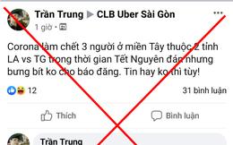 Bác thông tin Long An, Tiền Giang có 3 người tử vong do nhiễm virus corona