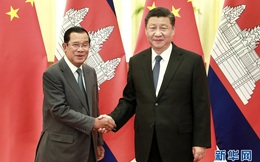 """""""Hoạn nạn thấy chân tình"""": Ông Tập Cận Bình nức nở ca ngợi thủ tướng Campuchia Hun Sen"""
