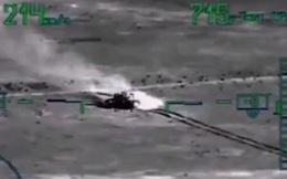 """Clip: Trực thăng Mi-28 Nga ở Syria """"xơi tái"""" xe tăng của khủng bố trong... 10 giây"""