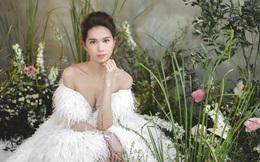 Ngọc Trinh diện váy cưới, khoe vai trần gợi cảm