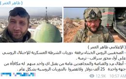 Phiến quân Syria treo thưởng hàng trăm nghìn USD cho ai bắt giữ được Quân cảnh Nga ở Idlib