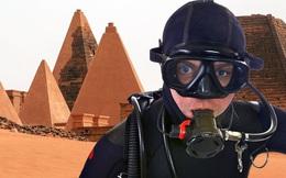 Lặn lội tìm kim tự tháp của Pharaoh Đen huyền bí chìm dưới nước